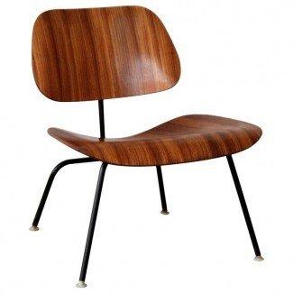 Eames LCM Zebra Wood Lounge Chair en 1stdibs