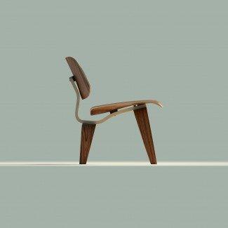 Modelo 3D Eames Lounge Chair Wood LCW VR / AR