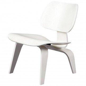Sillón lounge Wood 'LCW' White Edición limitada, Eames Vitra ...