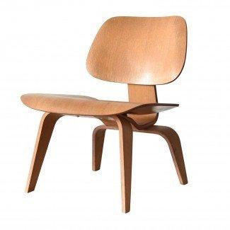 Eames Lcw Herman Miller Usa Oak Lounge Chair en 1stdibs