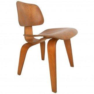 Sillón moderno Charles Eames Wood de mediados de siglo ...