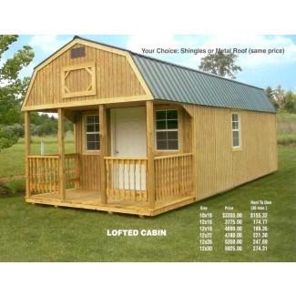 Lofted Cabin   Scott y Mike's Barn Sales