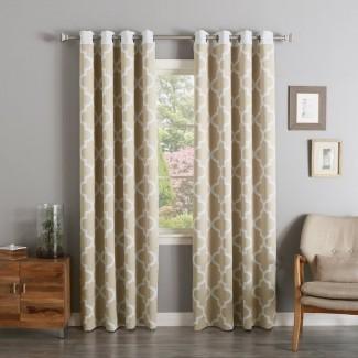 Paneles de cortina con ojal para oscurecimiento de habitación Lakeview Geometric (juego de 2)