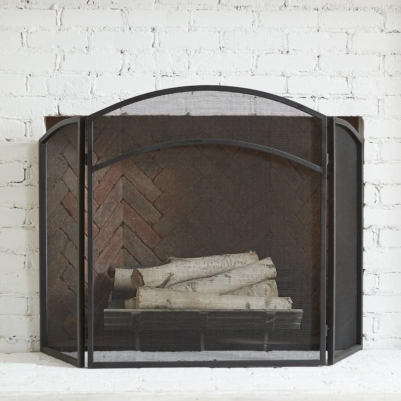 La pantalla de fuego de tres paneles