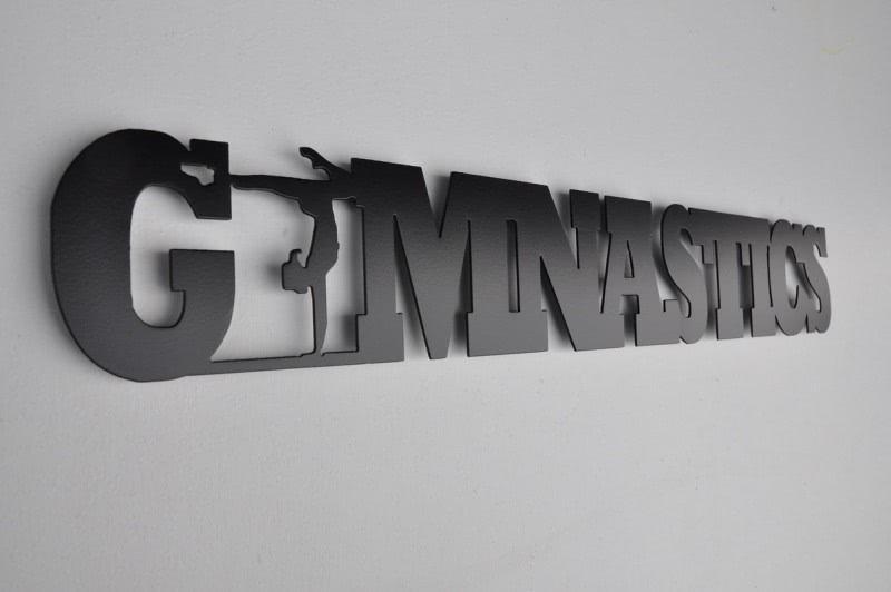 Metal Gymnastics Word Wall Décor