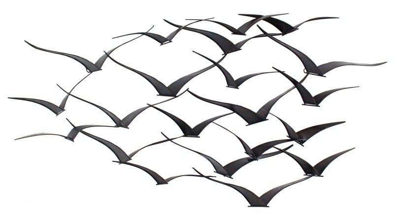 Decoración de pared de silueta de pájaro