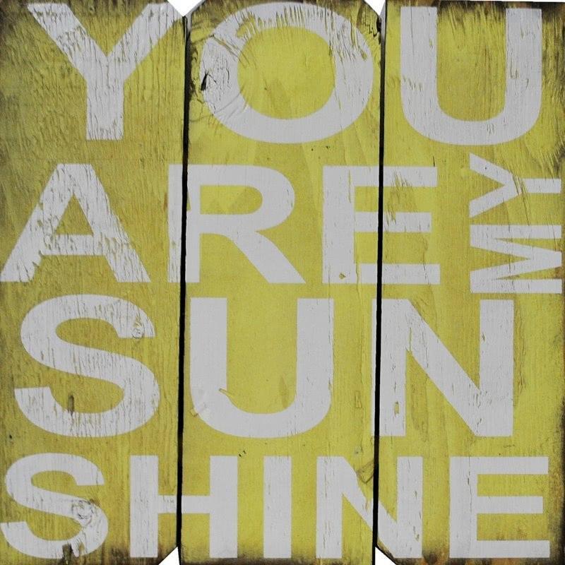 """Decoración de pared con código postal """"You are My Sunshine"""""""