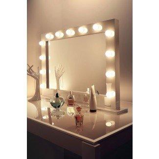 Vanity Makeup Mirror con bombillas Ideas de diseño para el hogar ...