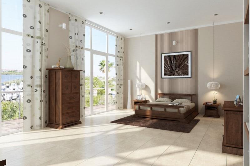 Juego de dormitorio configurable Cecere Platform de 3 piezas