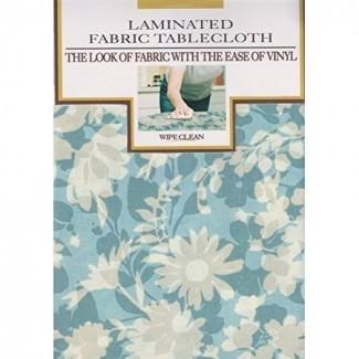 Mantel de tela laminada con estampado floral Blue Corryn 60 x ...