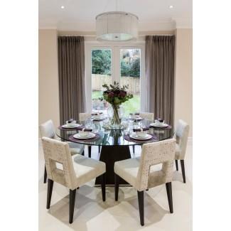 Hermosos manteles individuales para mesa redonda en el comedor ...