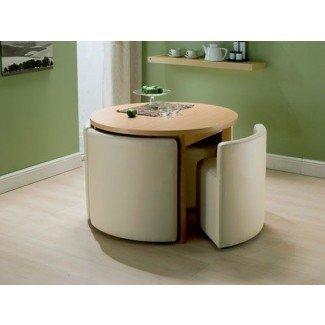 Mesa y sillas de comedor que ahorran espacio | smiuchin