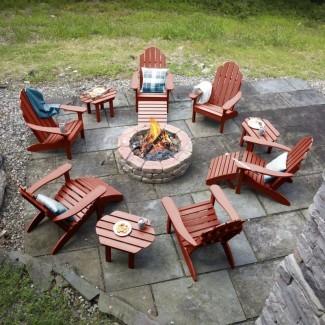 Silla Highpoint Classic Plastic Adirondack con mesa