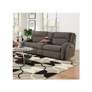 Consola doble Maverick y sofá reclinable