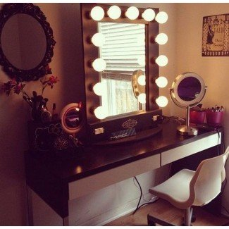 Mesa de maquillaje con espejo con luz Australia en ...