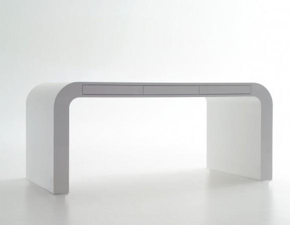 escritorio blanco de señalización