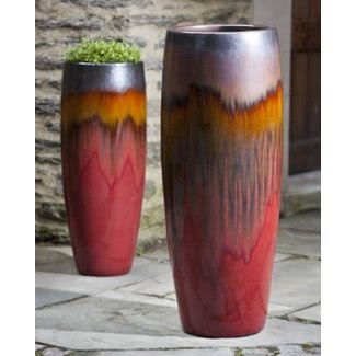 Grandes maceteros de cerámica para exteriores 1