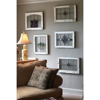 Paneles colgantes de vidrieras para ventanas