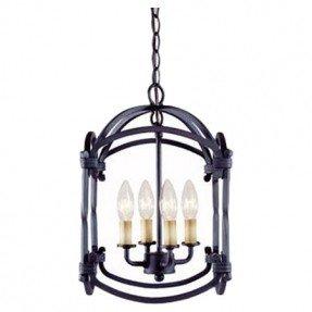 Linterna / colgante colgante de hierro con 4 luces al aire libre