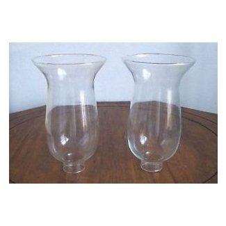 Lámpara de aceite de huracán de vidrio transparente o chimenea de globo con candelabro