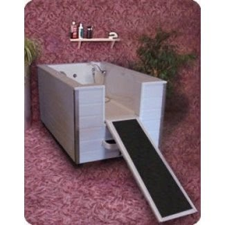 Bañera de aseo para perros