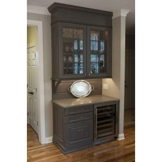 Mueble bar con refrigerador de vino