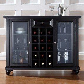Armario de bar Alexandria con almacenamiento de vino
