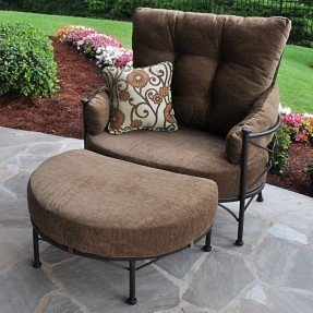 Grayson Cuddle Chair and Ottoman with Cushion