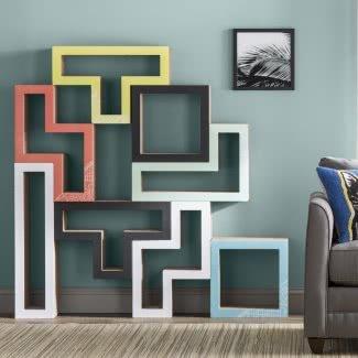 Árbol de gato modular Tetris colorido