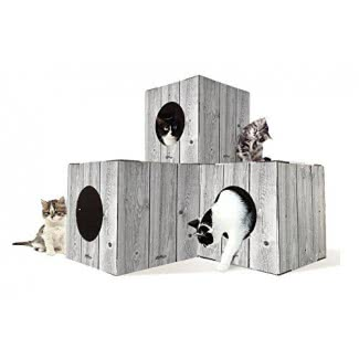Condo de árbol de gato personalizable al aire libre