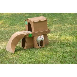 Castillo de gatito decorativo de cartón corrugado simple