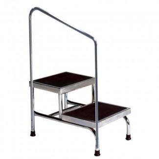 Muebles domésticos para el hogar taburete de dos escalones con pasamanos