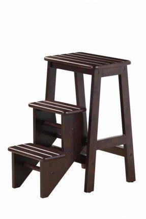 Taburete de madera de 3 pasos