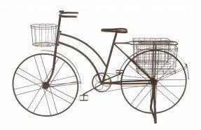 Jardinera de bicicleta de metal antiguo