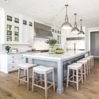 Las mejores 25+ islas de cocina con ideas de taburetes en Pinterest ...