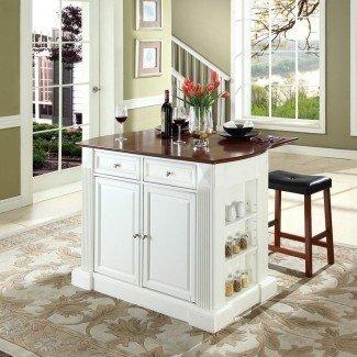 Compre Crosley Furniture White Craftsman Kitchen Island con ...