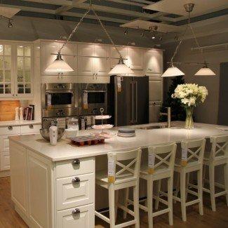 taburetes de bar con isla de cocina - Cocina y decoración