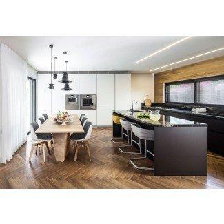 Opciones de asientos elegantes para las islas de cocina modernas
