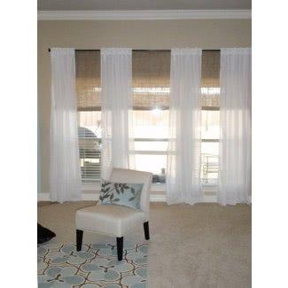 3 cortinas de ventana