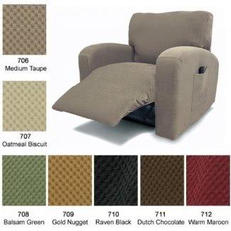 Funda reclinable para silla Stretch Piqué Warm Maroon 712