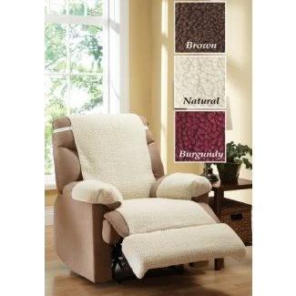 Funda reclinable de forro polar para silla, 4 piezas, juego natural