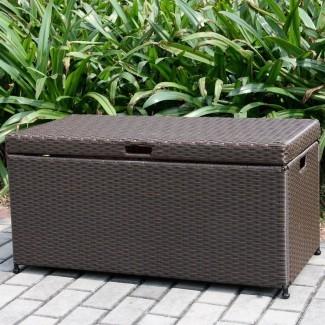 Caja de cubierta de mimbre de 70 galones
