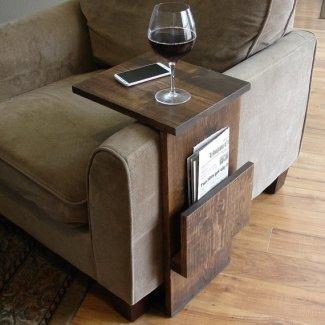 Sofá silla apoyabrazos soporte para mesa de TV 4