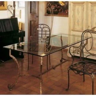 Base de mesa de comedor de hierro forjado