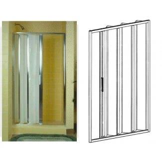 Puertas de ducha de bañera plegables