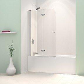 """Puerta de bañera con bisagras pivotante sin marco AquaFold de 58 """"x 36"""""""