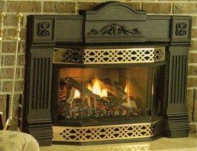 Chimenea de gas de ventilación natural