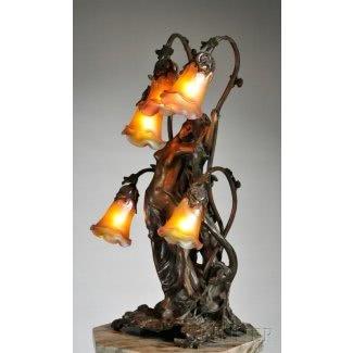 Art deco lamp lady