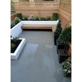 Banco de jardín de concreto