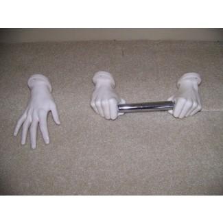 Exclusivo soporte de cerámica para toallas de mano y papel higiénico